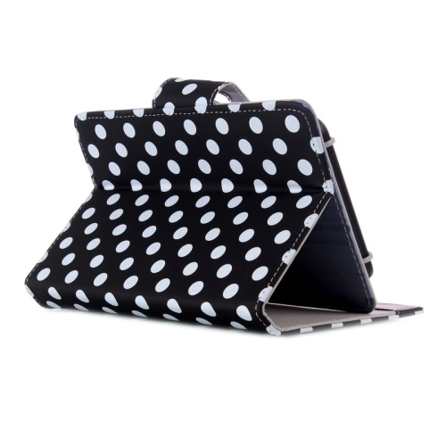 Universal Dot Pattern Horizontal Flip Leather Case with Holder for 7 inch Tablet PC (Black)