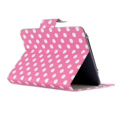 Universal Dot Pattern Horizontal Flip Leather Case with Holder for 7 inch Tablet PC (Pink)