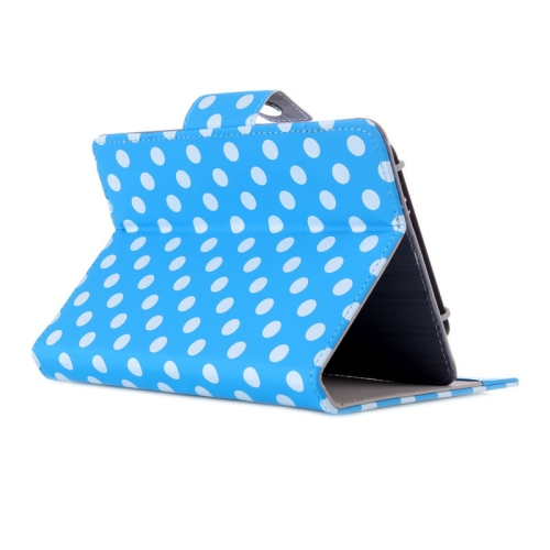Universal Dot Pattern Horizontal Flip Leather Case with Holder for 7 inch Tablet PC (Blue)