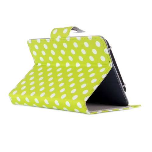 Universal Dot Pattern Horizontal Flip Leather Case with Holder for 7 inch Tablet PC (Green)