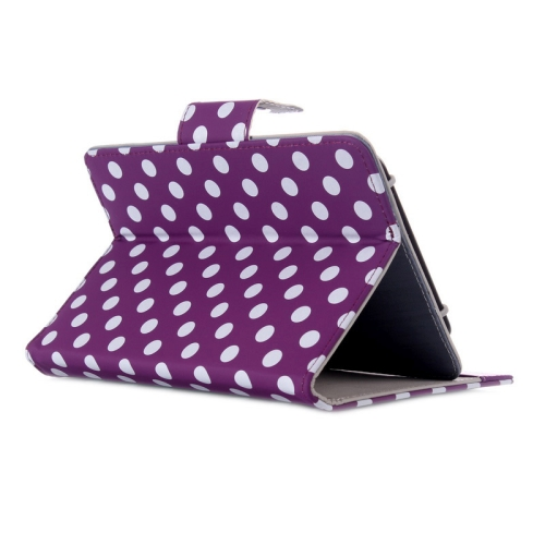 Universal Dot Pattern Horizontal Flip Leather Case with Holder for 7 inch Tablet PC (Purple)