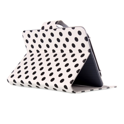 Universal Dot Pattern Horizontal Flip Leather Case with Holder for 7 inch Tablet PC (White)