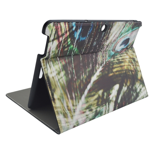 Creative Designs Flip Leather Case for ASUS MeMO Pad 10 ME103K with Holder (Peacock Feather Pattern)