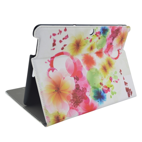 Creative Designs Flip Leather Case for ASUS MeMO Pad 10 ME103K with Holder (Flowery Pattern)