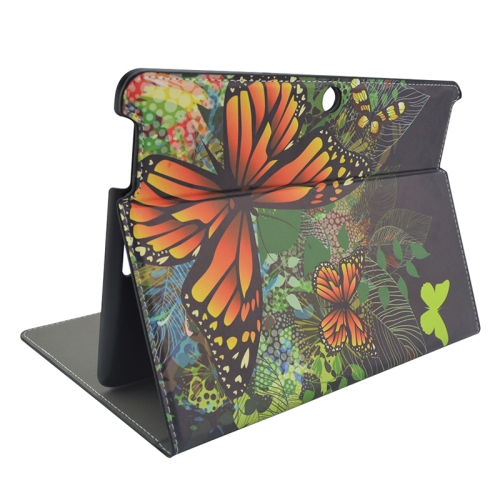 Creative Designs Flip Leather Case for ASUS MeMO Pad 10 ME103K with Holder (Butterfly Pattern)