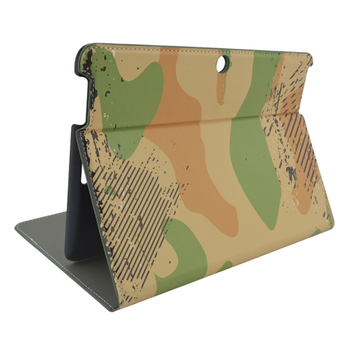 Creative Designs Flip Leather Case for ASUS MeMO Pad 10 ME103K with Holder (Camo Pattern)