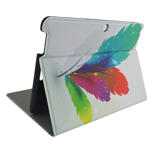 Creative Designs Flip Leather Case for ASUS MeMO Pad 10 ME103K with Holder (Colorful Fur Pattern)