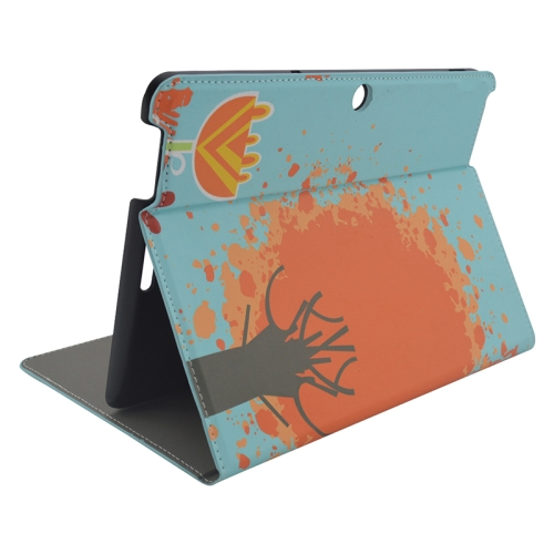 Creative Designs Flip Leather Case for ASUS MeMO Pad 10 ME103K with Holder (Abstract Tree Pattern)