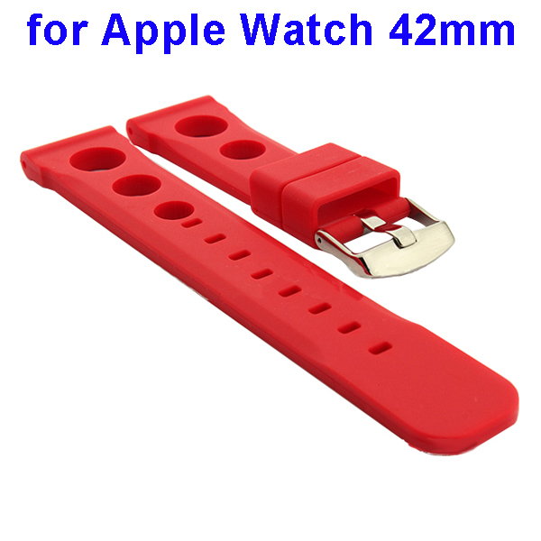 Fashionable Design Silicone Wristband for Apple Watch 42mm (Red)