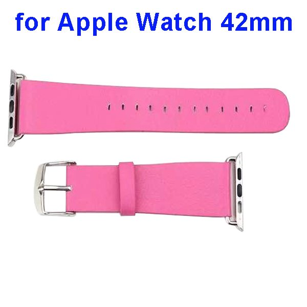 PU Leather Wristband for Apple Watch 42mm without Metal Connector (Rose)