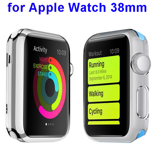 Fashion Design Shockproof Translucent PC Case for Apple Watch 38mm (White)