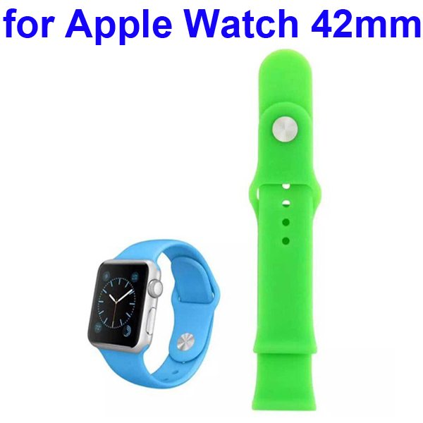 Soft Silicone Strap Sport Wrist Band for Apple Watch 42MM (Green)