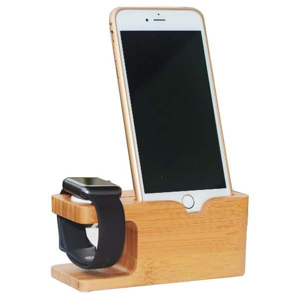 Newest Bamboo Wood Charging Dock for Apple Watch and for iPhone 6