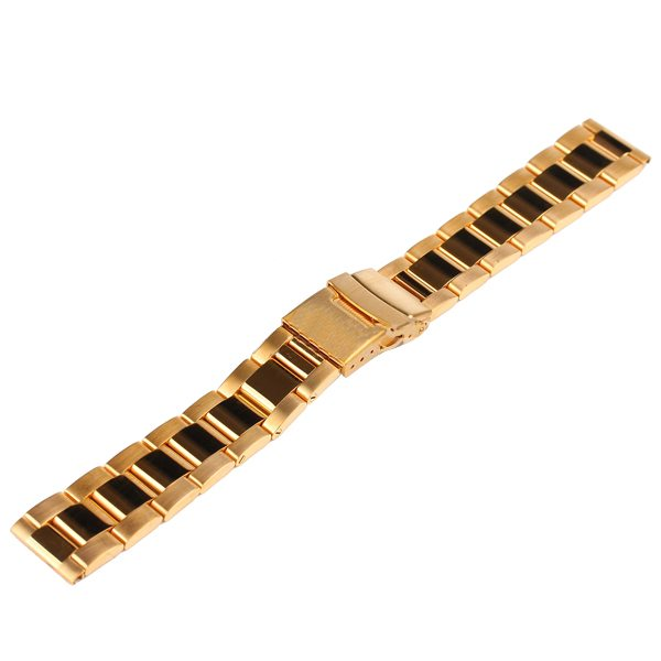 Luxury Style Neutral Stainless Steel Wristband for Apple Watch 38MM without Watch Adapter (Golden)