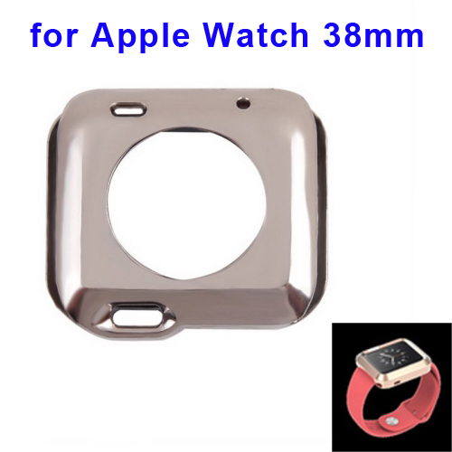 Newest Plating TPU Protective Case for Apple Watch 38mm (Grey)