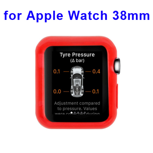 New Arrival Transparent Protective TPU Case for Apple Watch 38mm (Dark Red)