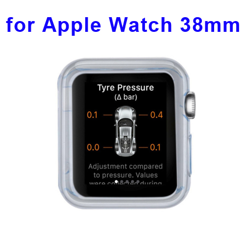 New Arrival Transparent Protective TPU Case for Apple Watch 38mm (Blue)