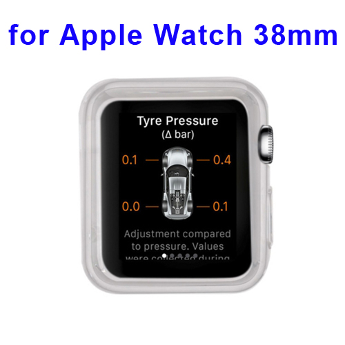 New Arrival Transparent Protective TPU Case for Apple Watch 38mm (White)