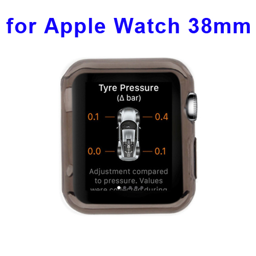 New Arrival Transparent Protective TPU Case for Apple Watch 38mm (Black)