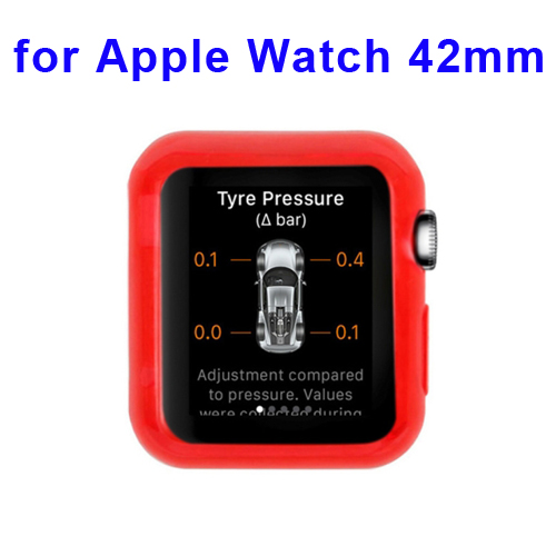 New Arrival Transparent Protective TPU Case for Apple Watch 42mm (Dark Red)