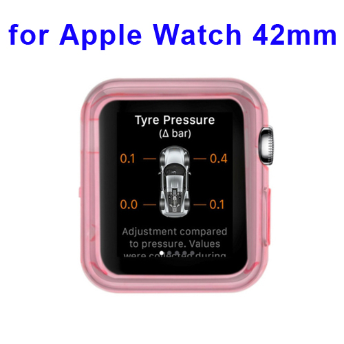 New Arrival Transparent Protective TPU Case for Apple Watch 42mm (Pink)
