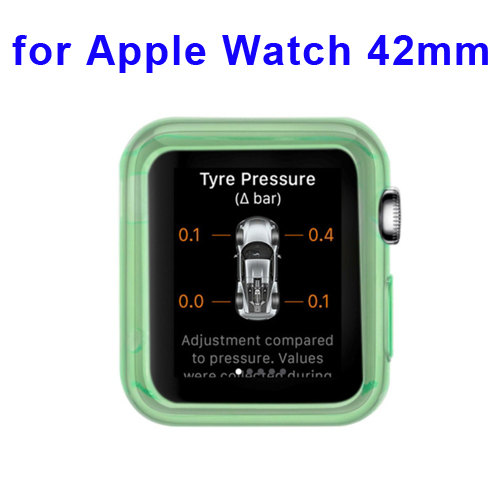 New Arrival Transparent Protective TPU Case for Apple Watch 42mm (Green)