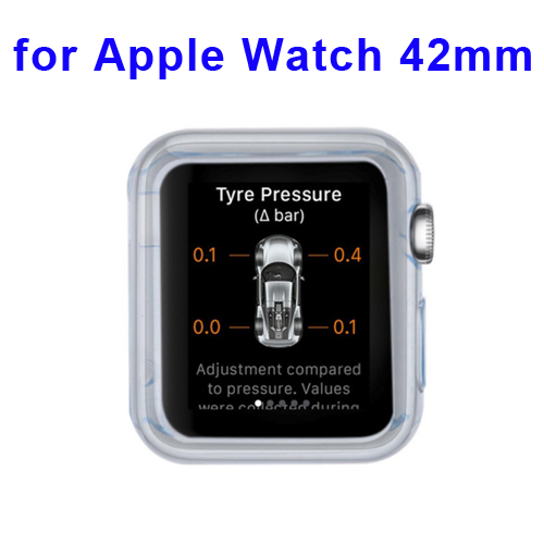 New Arrival Transparent Protective TPU Case for Apple Watch 42mm (Blue)