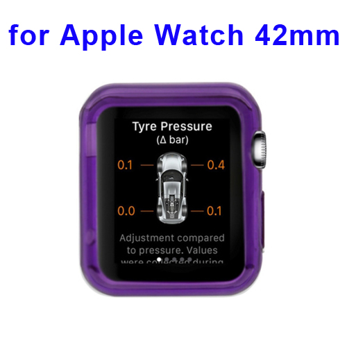 New Arrival Transparent Protective TPU Case for Apple Watch 42mm (Purple)