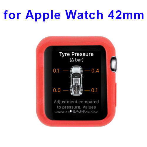 New Arrival Transparent Protective TPU Case for Apple Watch 42mm (Red)