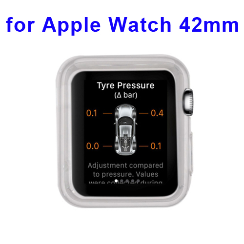 New Arrival Transparent Protective TPU Case for Apple Watch 42mm (White)