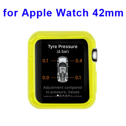 New Arrival Transparent Protective TPU Case for Apple Watch 42mm (Yellow)