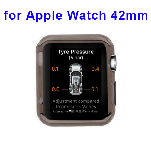 New Arrival Transparent Protective TPU Case for Apple Watch 42mm (Black)