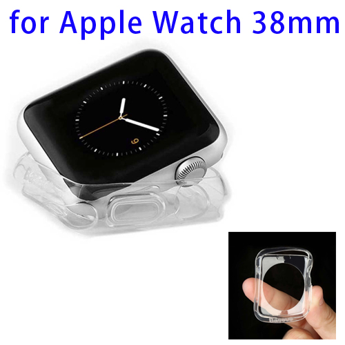 Baseus 0.65mm Ultra-thin Transparent TPU Protective Case for Apple Watch 38mm (Transparent)