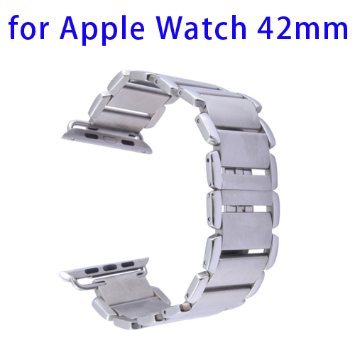 Luxury Stainless Steel Wrist Band for Apple Watch 42mm With Aapater Included (Silver)