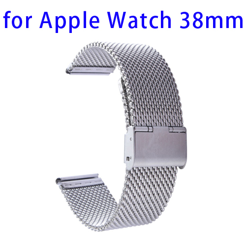 Milanese Stainless Steel Wristband for Apple Watch 38mm with Classic Buckle