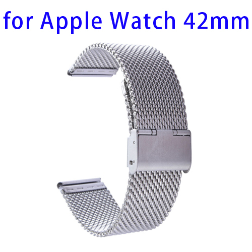 Milanese Stainless Steel Wristband for Apple Watch 42mm with Classic Buckle
