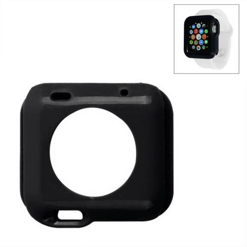 Solid Color Protective TPU Case for Apple Watch 38mm (Black)