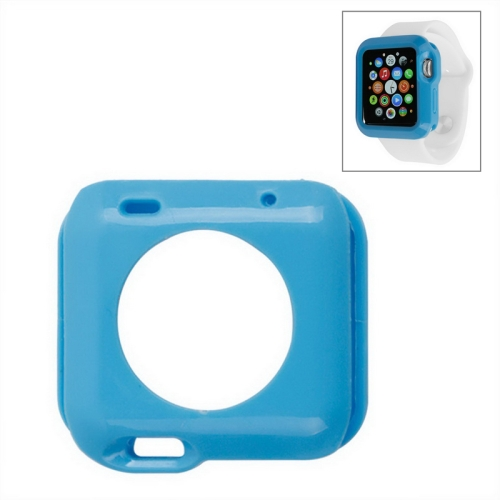 Solid Color Protective TPU Case for Apple Watch 38mm (Blue)