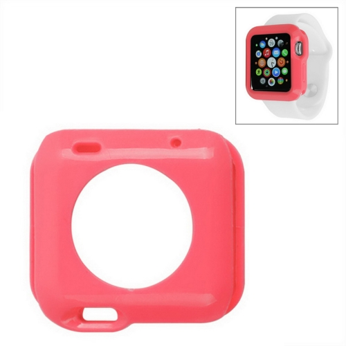 Solid Color Protective TPU Case for Apple Watch 38mm (Red)