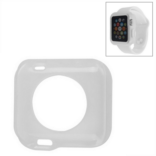 Solid Color Protective TPU Case for Apple Watch 38mm (Transparent)