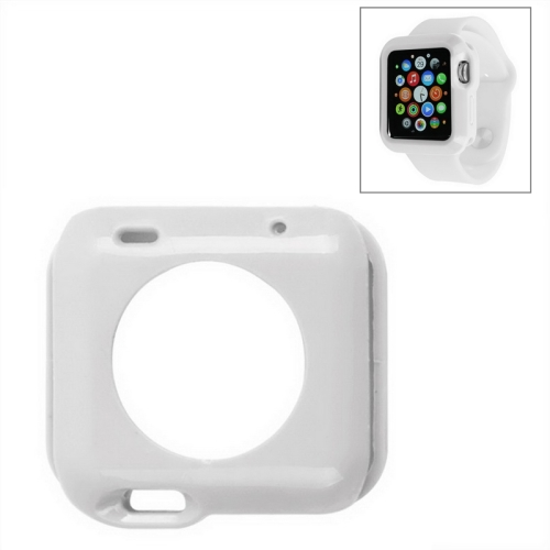 Solid Color Protective TPU Case for Apple Watch 38mm (White)
