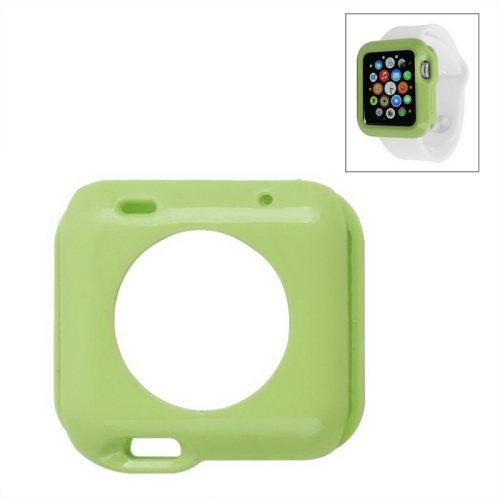 Solid Color Protective TPU Case for Apple Watch 42mm (Green)