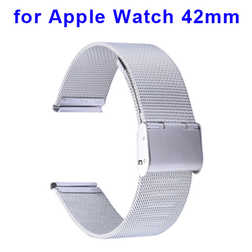 Milanese Classic Buckle Stainless Steel Watchband for Apple Watch 42mm