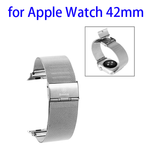 Baseus Milanese Classic Buckle Stainless Steel Watchband for Apple Watch 42mm