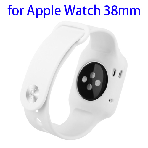 Baseus Fresh Color Plus Series Soft TPU Watchband Sport Case for Apple Watch 38mm (White)