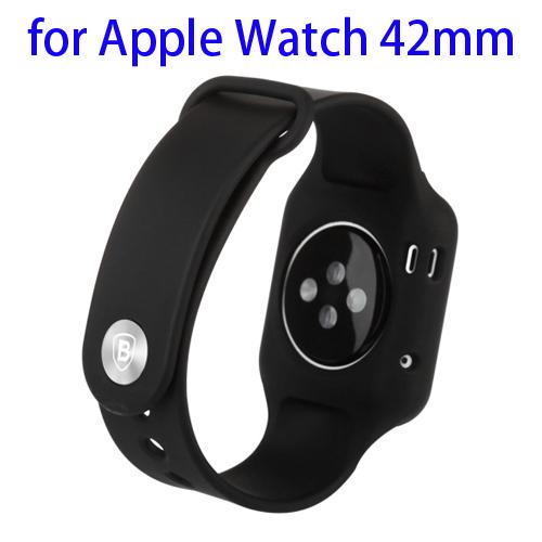 Baseus Fresh Color Plus Series Soft TPU Watchband Sport Case for Apple Watch 42mm (Black)