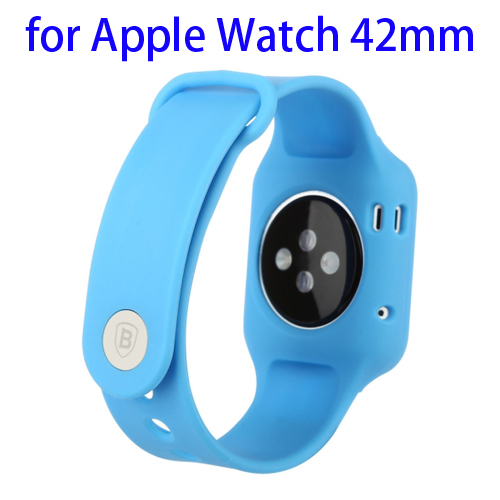 Baseus Fresh Color Plus Series Soft TPU Watchband Sport Case for Apple Watch 42mm (Blue)