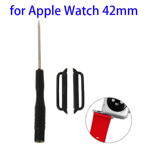 Metal Strap Connector for Apple Watch 42mm with Screwdrivers Tool, Pack of 2 (Black)