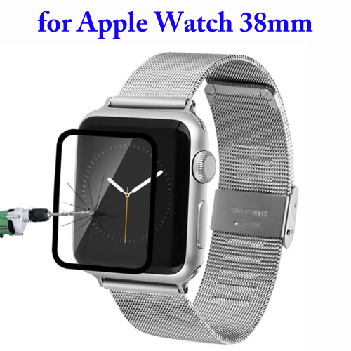 Baseus Ultrathin 0.15mm Silk Printing Explosion-proof Full Screen Tempered Glass Film for Apple Watch 38mm