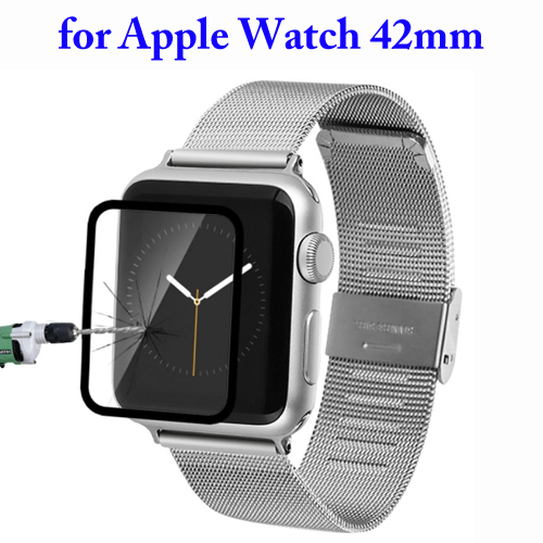Baseus Ultrathin 0.15mm Silk Printing Explosion-proof Full Screen Tempered Glass Film for Apple Watch 42mm